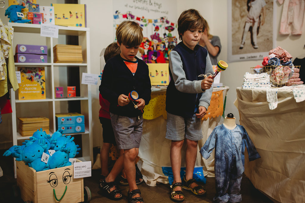 ShopUp London Summer 2018 Gallery boys playing