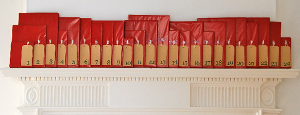 christmas book advent calendar
