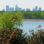 Dallas skyline from White Rock Lake