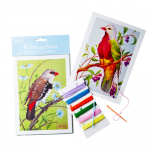 bird print sewing cards