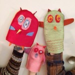 Hand puppets, hand-sewn by kids (by Babyccino Kids)