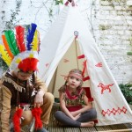 indians in teepee