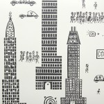 Jim Flora wallpaper manhattan_charcoal_web