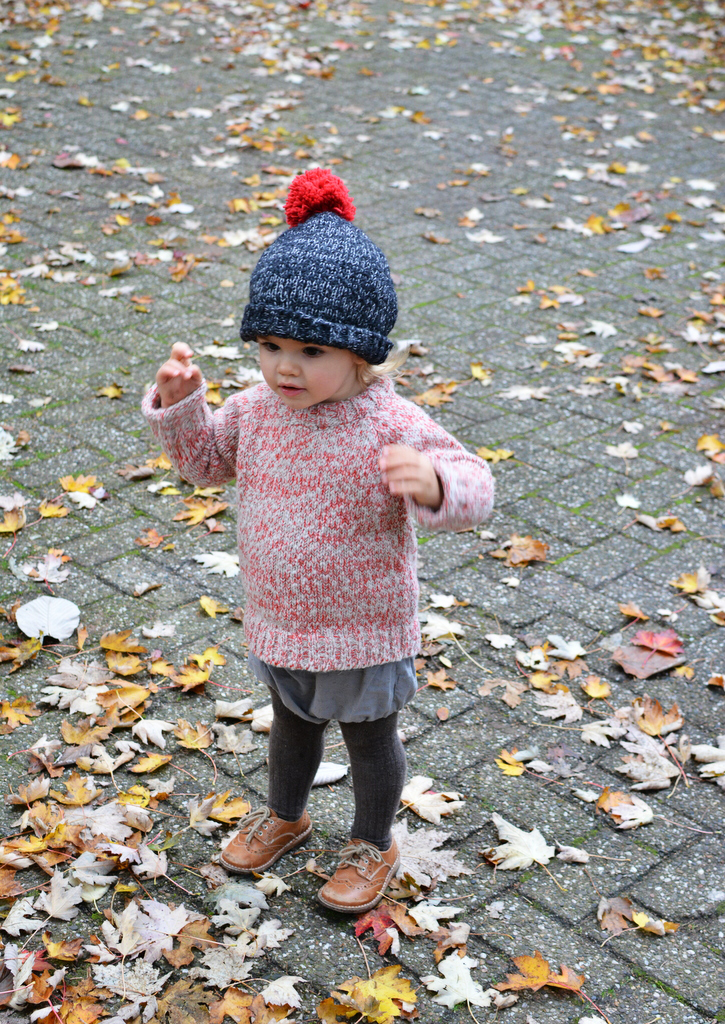 Marlow wearing Babaa jumper and hat
