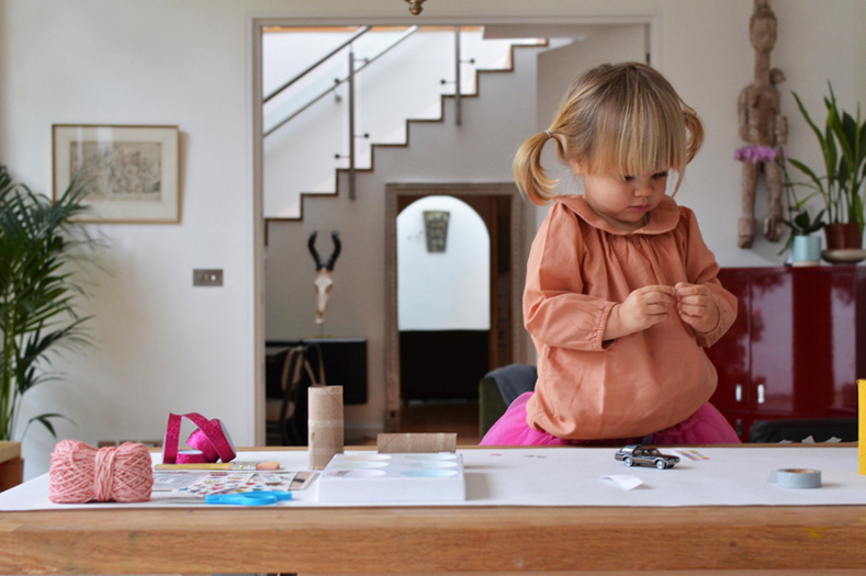 marlow crafting with stickers from Pipsticks