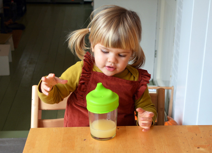 marlow with sippy cup