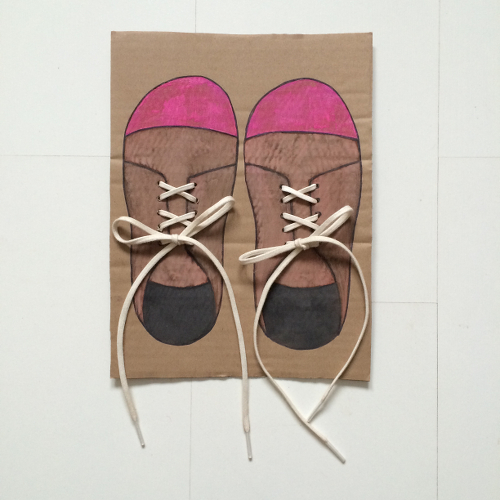 learn to tie your shoes craft project