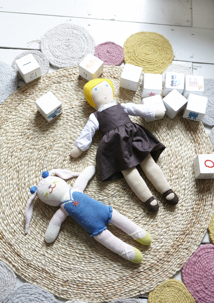 dolls and blocks