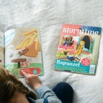 Ivy reading Storytime magazine