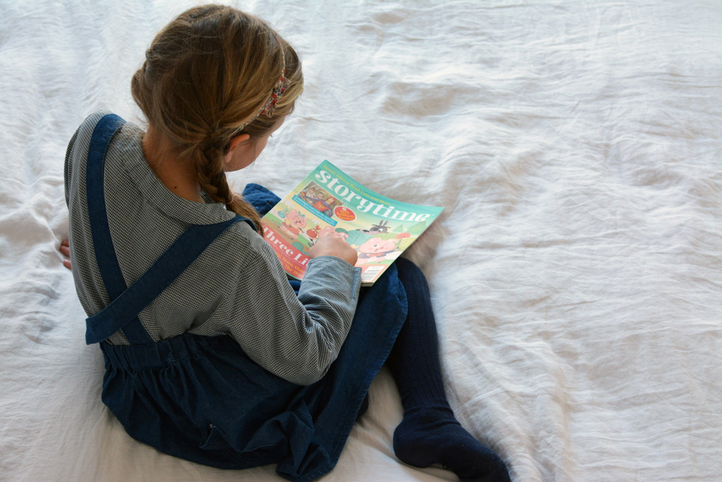 Ivy reading Storytime
