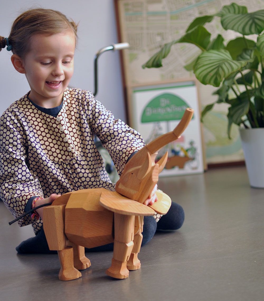 Hattie the Elephant, heirloom toy from Four Monkeys (via Babyccino Kids)