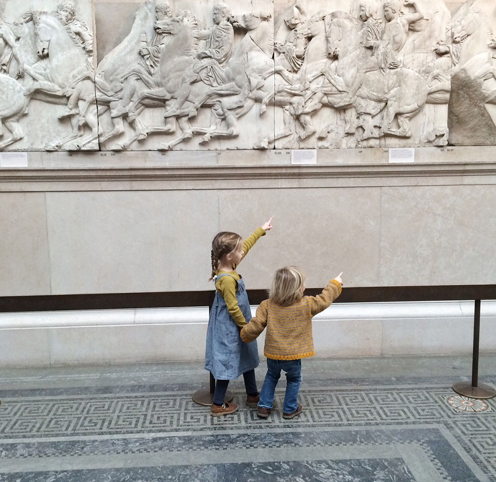 kids at the museum