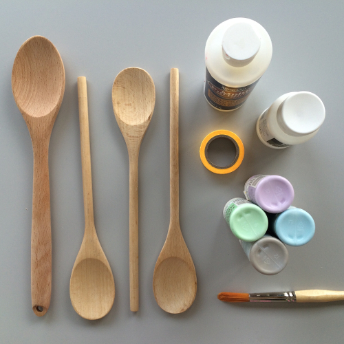 Dipped Wooden Spoonds DIY