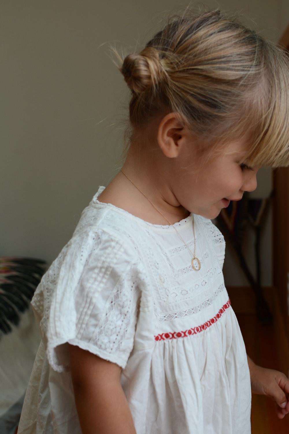 Marlow wearing Blanca Gomez necklace