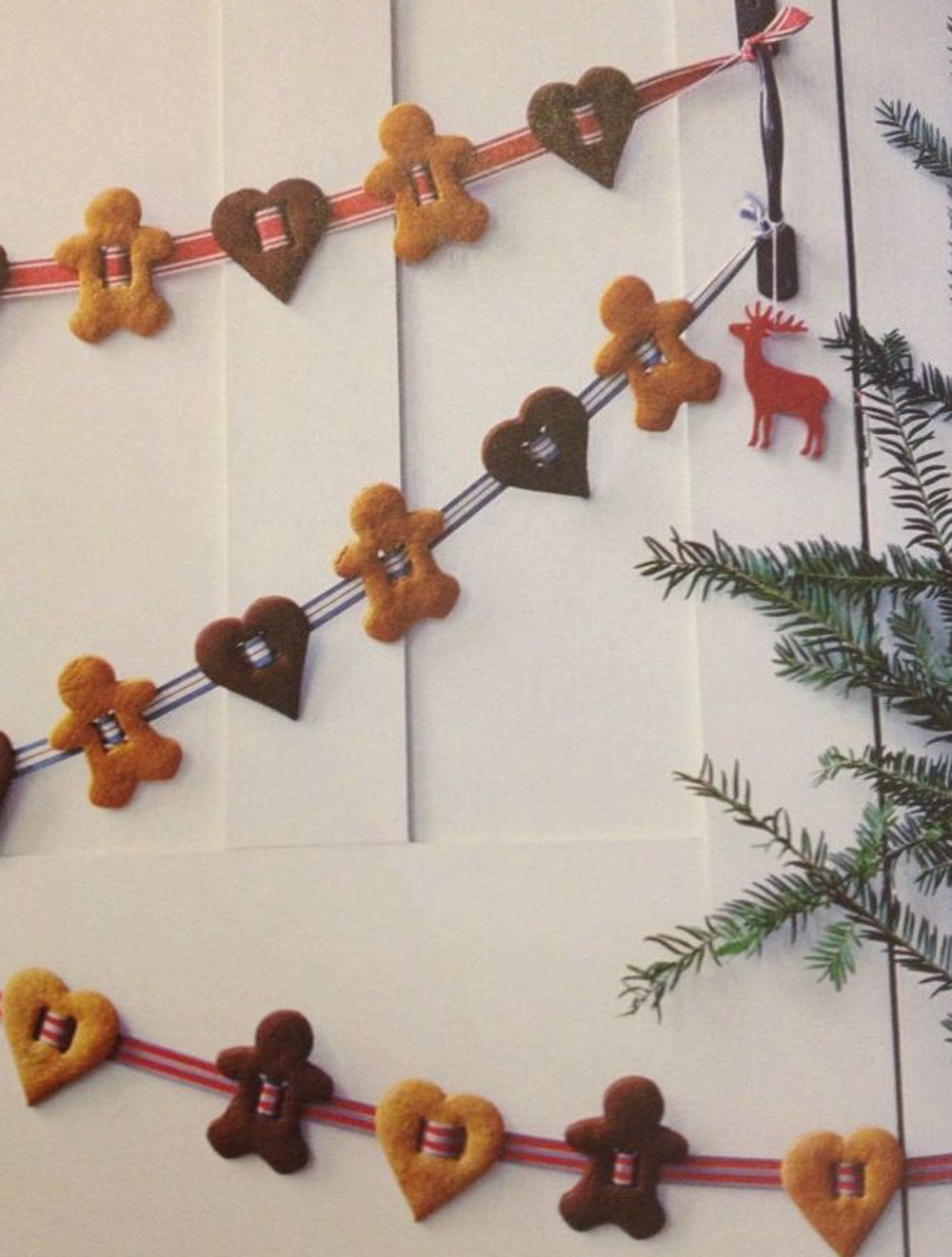 gingerbread garland on wall