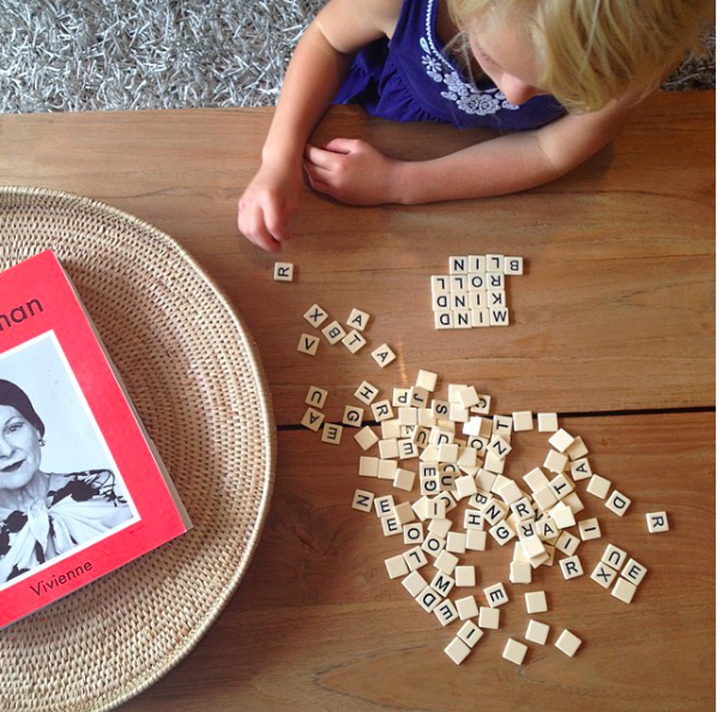 using scrabble to help spelling words