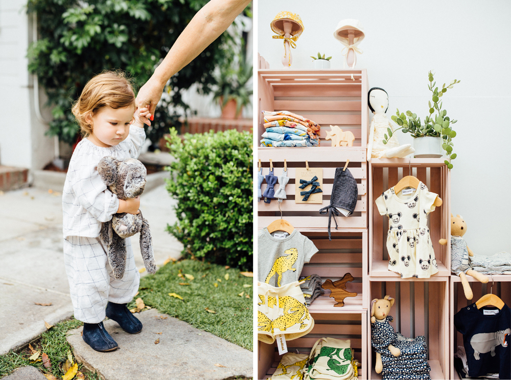 Little visitor and cute products at The ShopUp