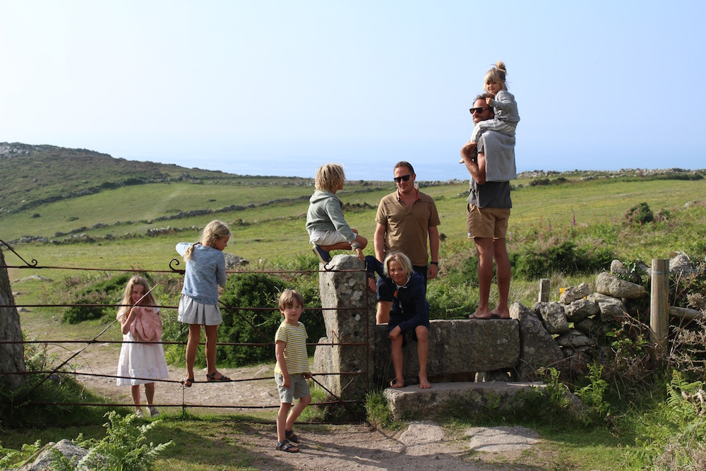 Climbing stiles in Zennor