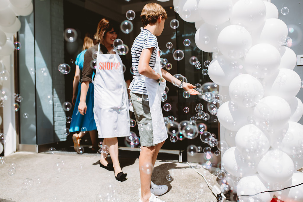 ShopUp London Summer 2018 Gallery Balloons and Bubbles