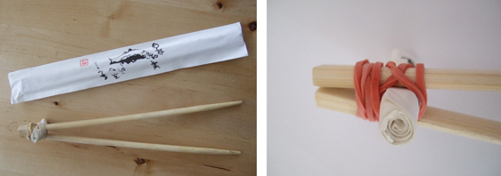 Trainer chopsticks home-made