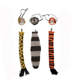 mask and tail costumes