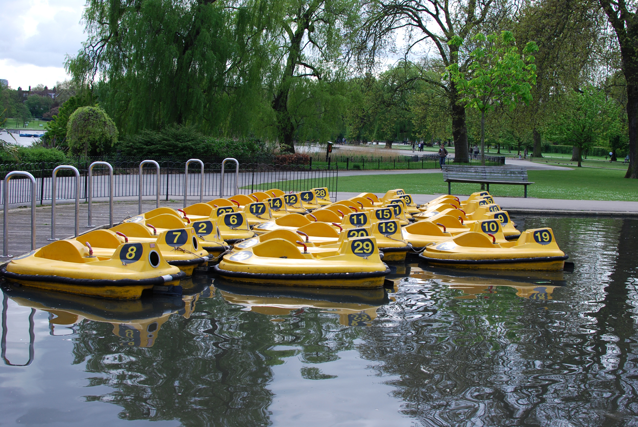 pedal boats in Regent's Park