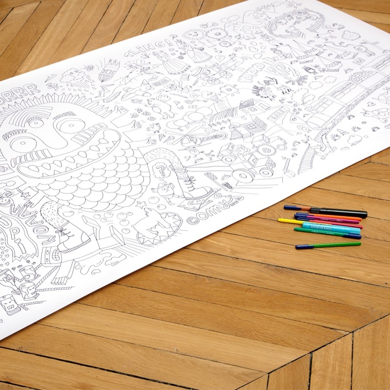Giant Coloring Poster Babyccino Kids: Daily tips, Children\'s ...
