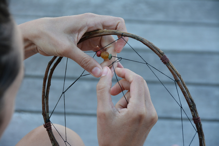 how to make dream catchers base