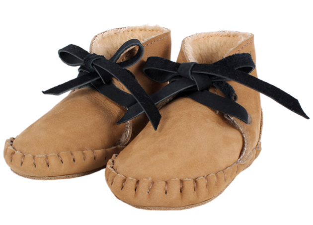 Leather baby booties from Donsje Babyccino Kids  Daily tips ... 5fa9164cf8bb