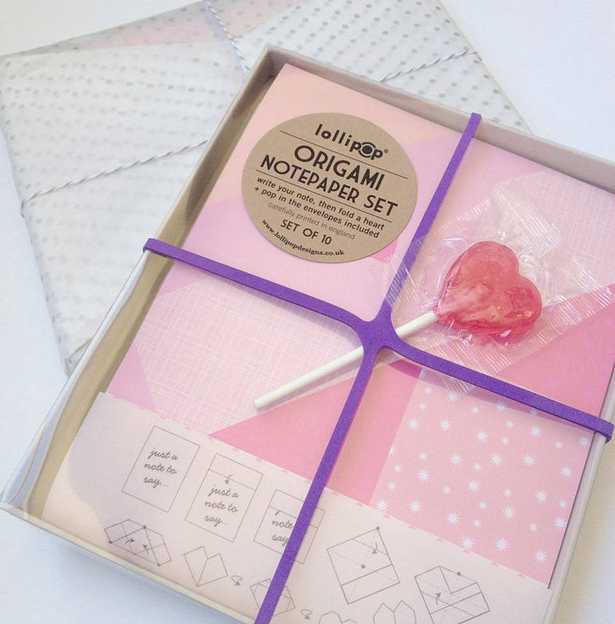 Heart Origami notepaper from Lollipop Babyccino Kids: Daily tips ...