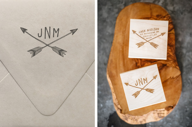 custom return address stamps
