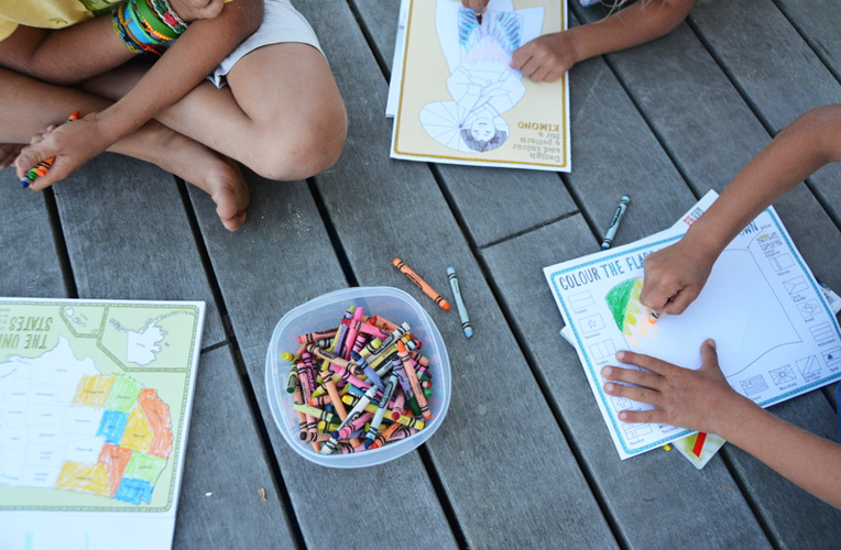 colouring MAPS activity book
