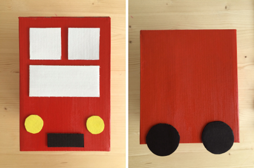 Cardboard Piggy Bank London Bus5