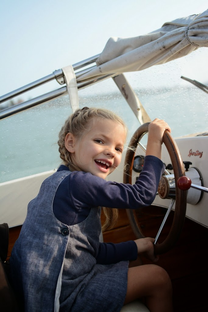 ivy driving boat