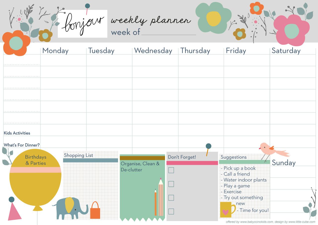 picture regarding Cute Weekly Planners identified as adorable weekly college planner -