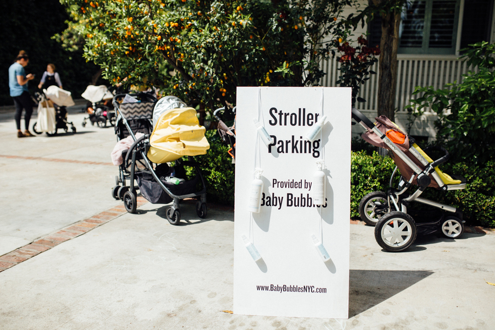 stroller parking by baby bubbles