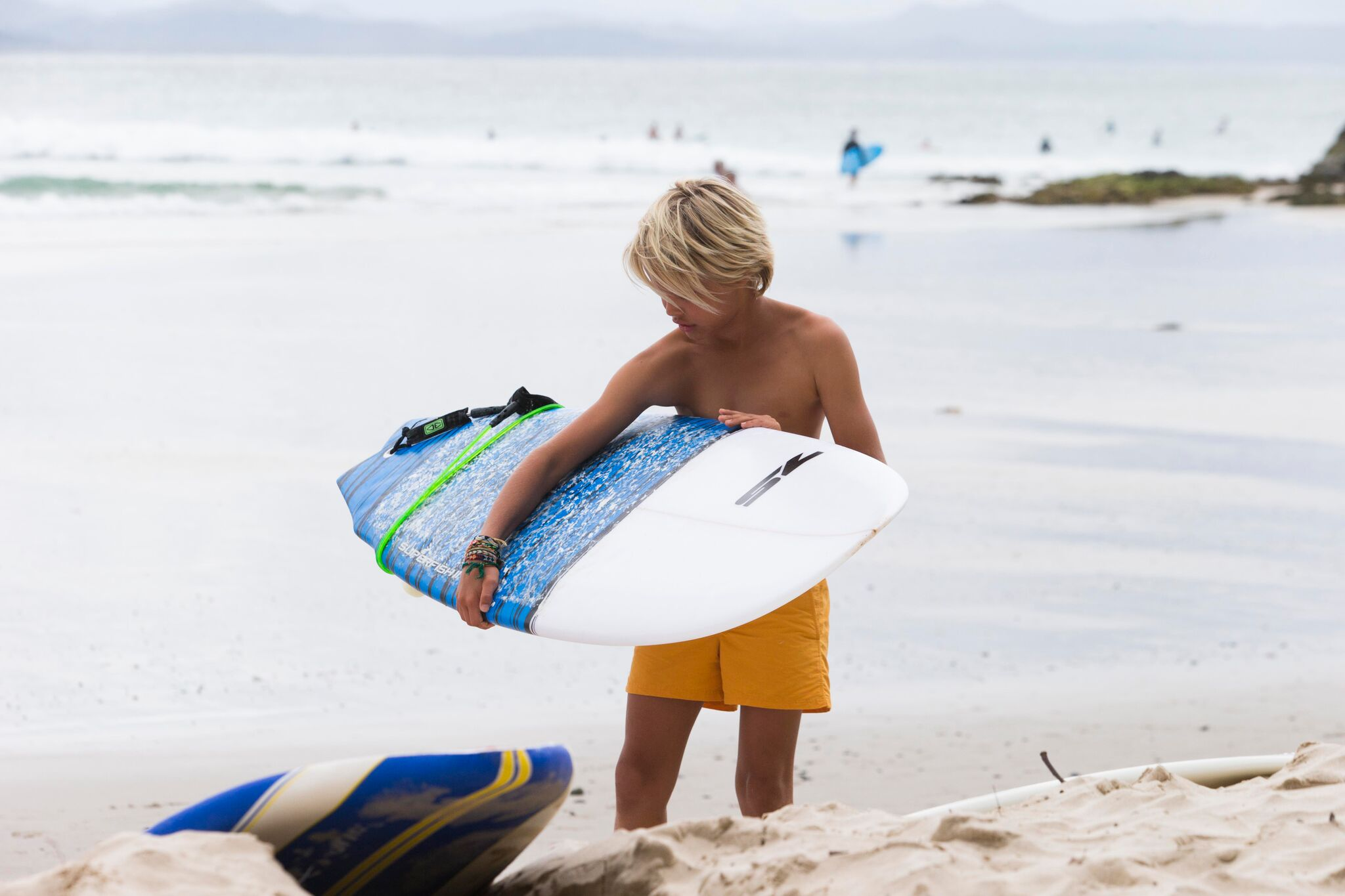 Easton and surfboard