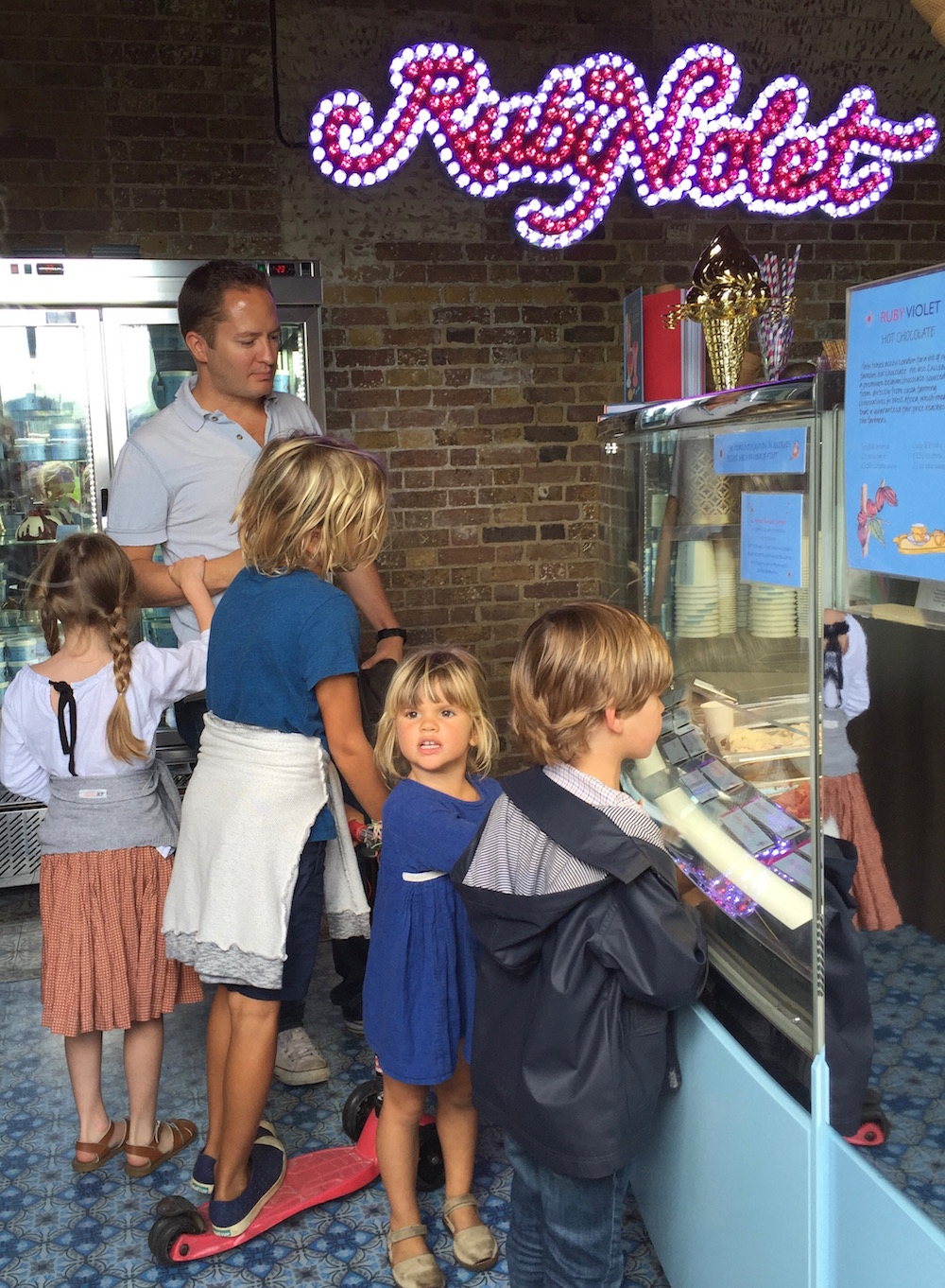 Getting Ice creams at Ruby Violet