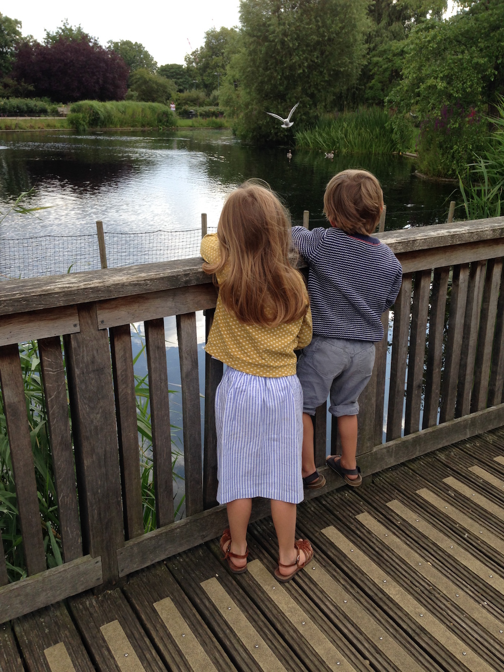 Kids at Queen Mary's Gardens lake