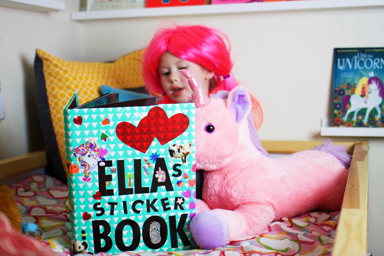ella's sticker book