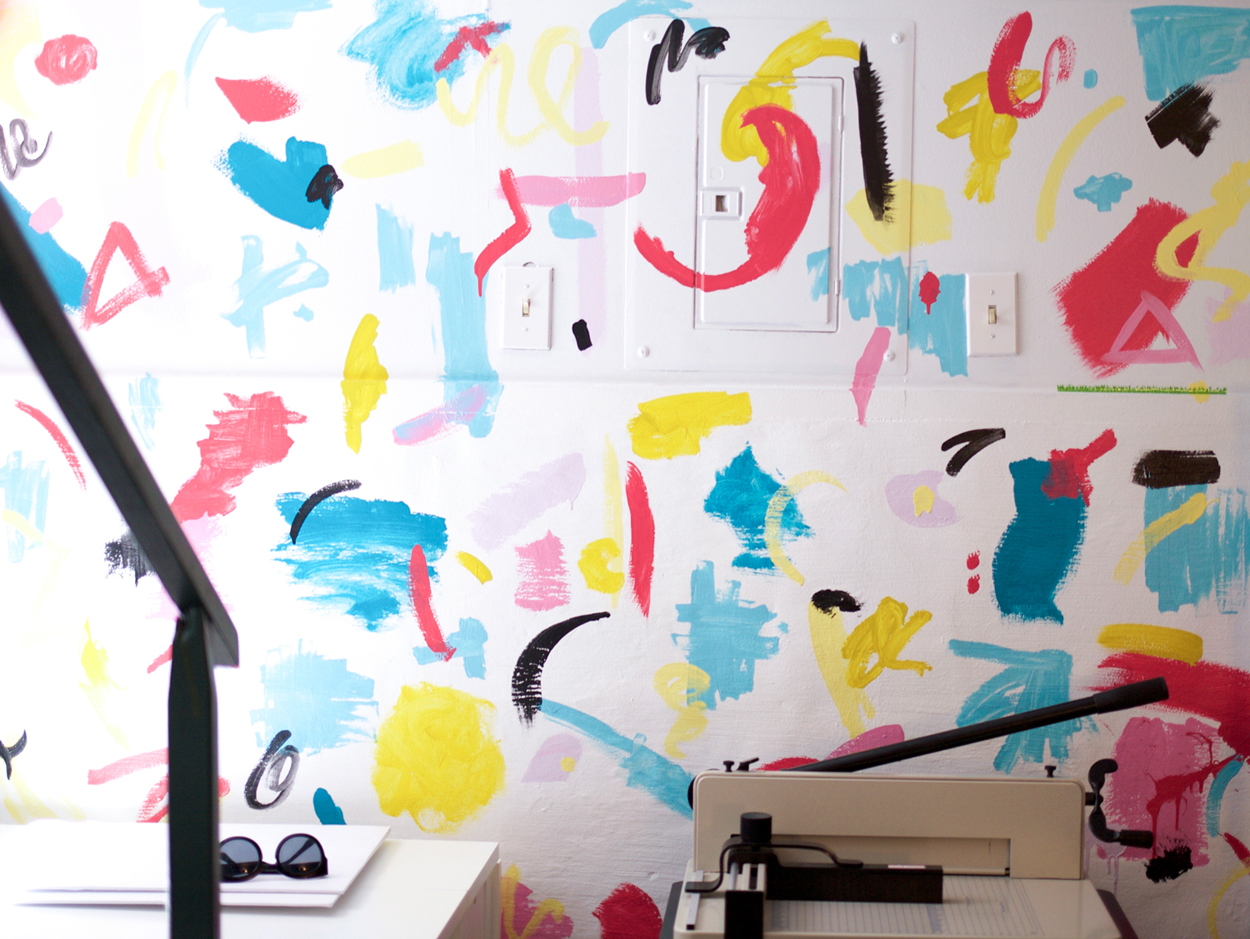 mural in Pipsticks studio