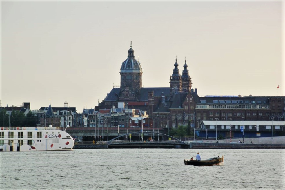 Views of central station from Amsterdam Noord