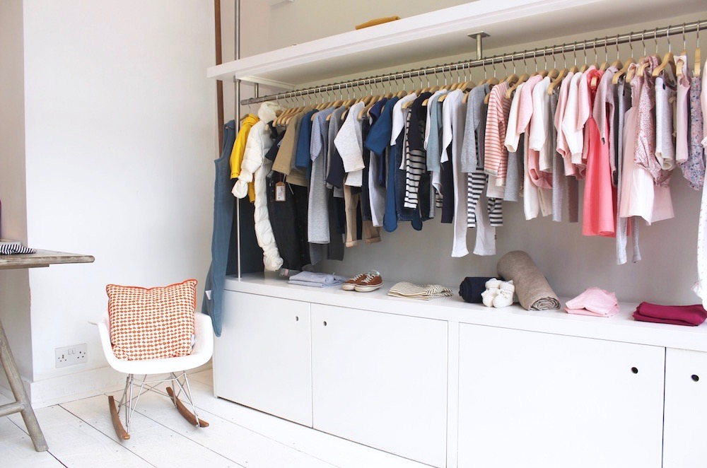 Elias and Grace clothing rail