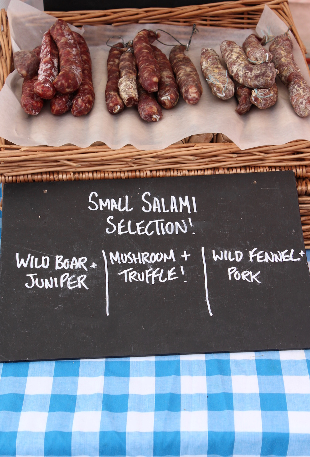 Southbank food market salami