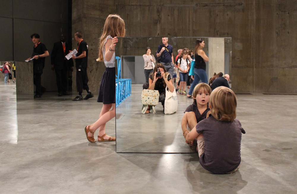 Tate Modern Mirror cubes funny faces