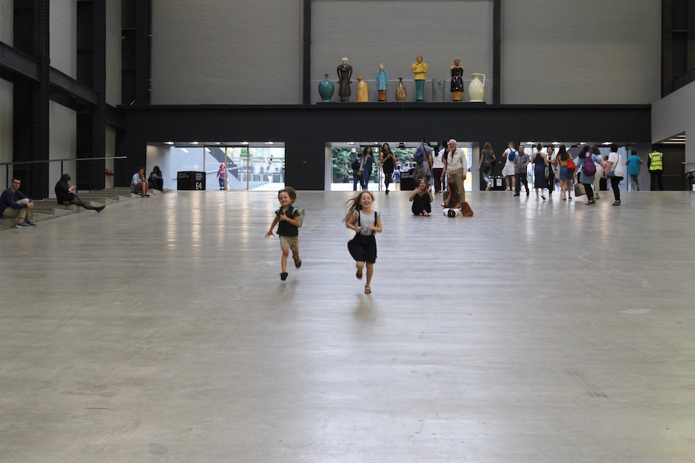 Tate Modern running in Turbine Hall