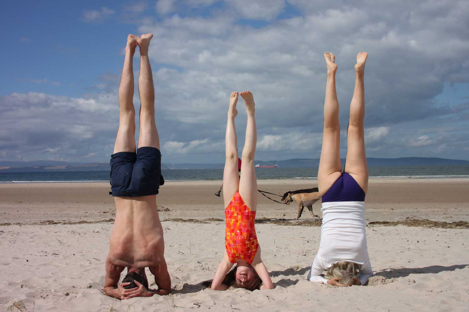 family-headstand