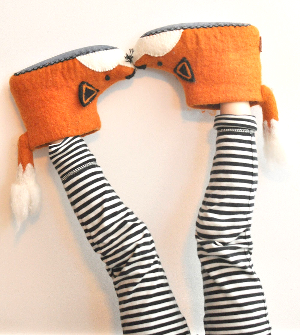 ab18136008a And the handsome organic felt fox slippers by Sew Heart Felt Co are a top  choice for toddlers. The little tail brushing against the calves of stripy  pajamas ...