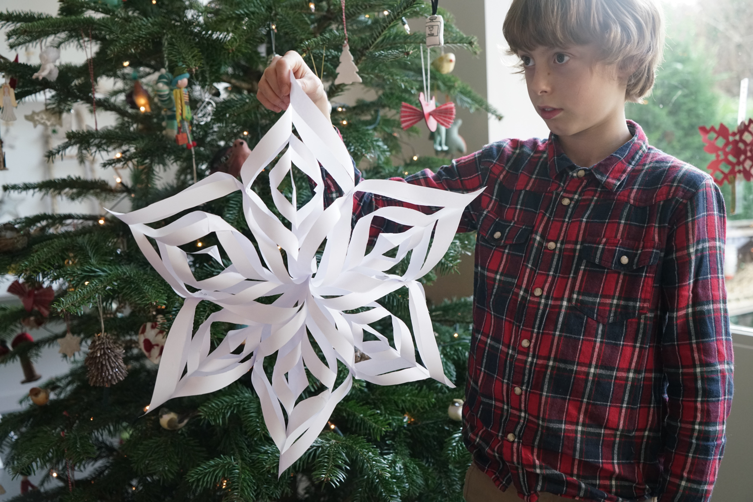 3D paper snowflakes - babyccino