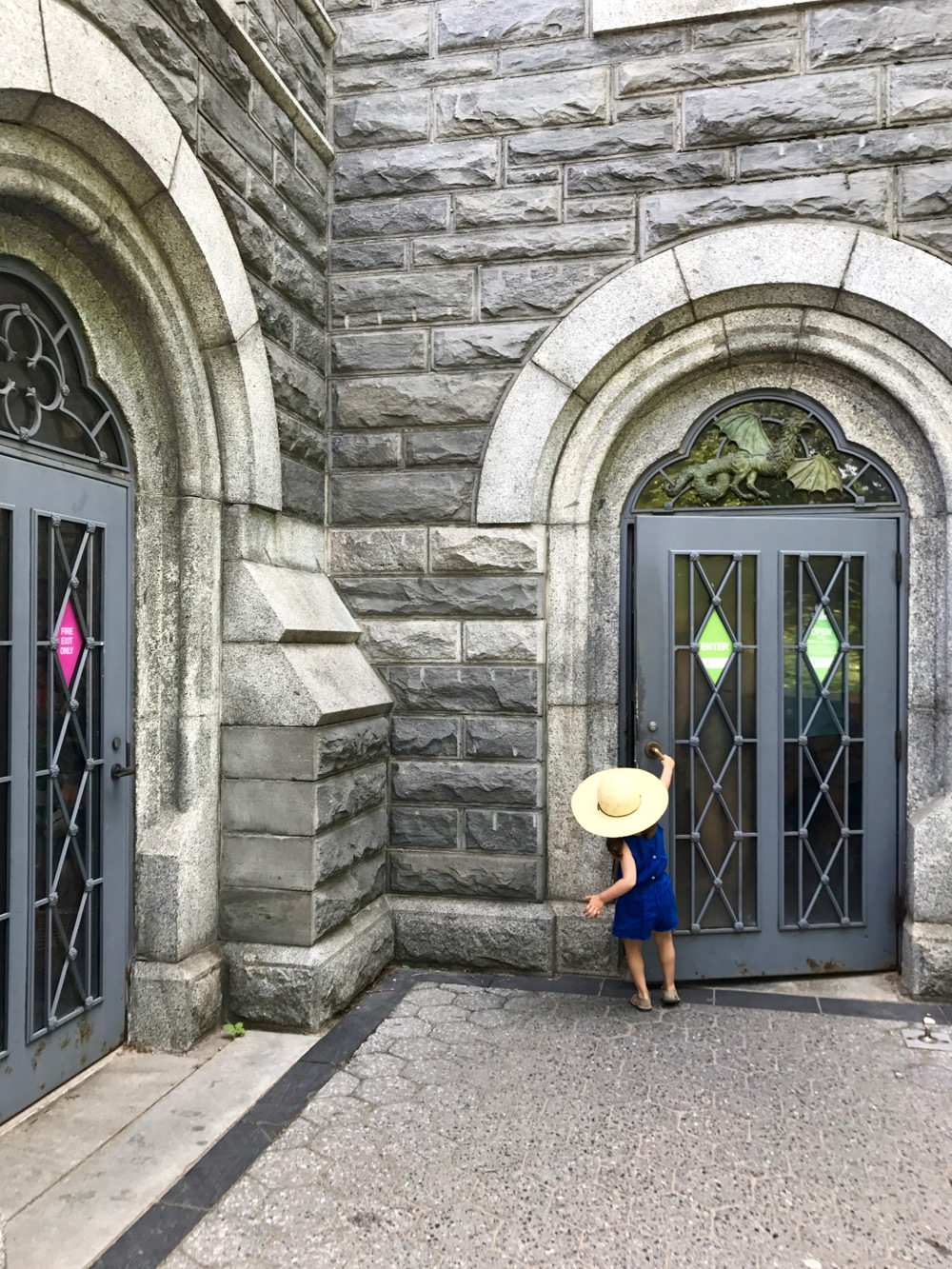 Opening the door to Belvedere Castle